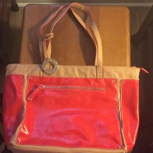Nine West Red/Tan Purse